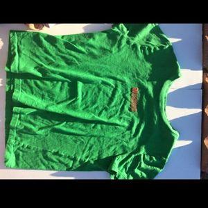 """A green """"weirdo"""" t-shirt"""